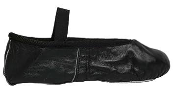 Vallée Roch - Chaussures De Danse En Cuir Noir Fille Noir, Couleur Noir, Taille 35