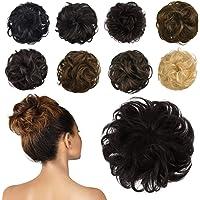 Extensão de coque de cabelo humano, peça de cabelo de coque bagunçado para cabelo cacheado, extensões de rabo de cavalo…