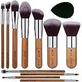 Set Brochas de maquillaje bambu orgánicas estilo Kabuki ecologicas para maquillaje profesional kit (makeup brush set) | Aplic