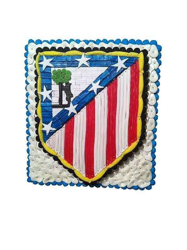 Tarta chuches Atlético de Madrid futbol: Amazon.es: Handmade