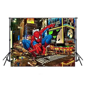 Amazon.com: Superhero City Back Drop 7 x 5 pies Spiderman ...
