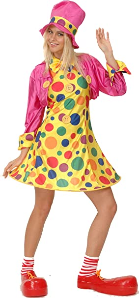 Disfraz de payaso para mujer S: Amazon.es: Juguetes y juegos