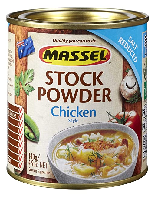 Massel Gluten-Free, Salt Reduced All Purpose Bouillon & Seasoning Granules,  Chicken Style, 4 2-Ounce