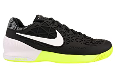 Nike Mens Zoom Cage 2 Tennis Shoes Black/White/Volt 705247-002 Size