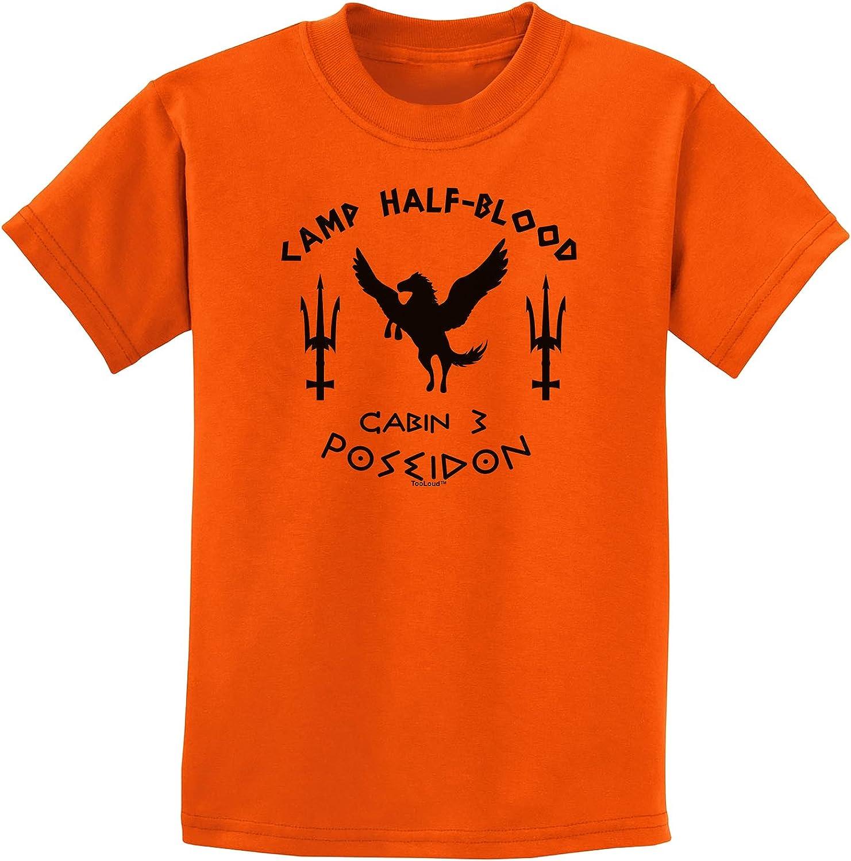 TOOLOUD Cabin 3 Poseidon Camp Half Blood Childrens T-Shirt: Clothing