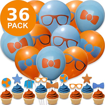 BLIPPI CUPCAKE CAKE TOPPER party balloon  decoration supplies birthday Balloons