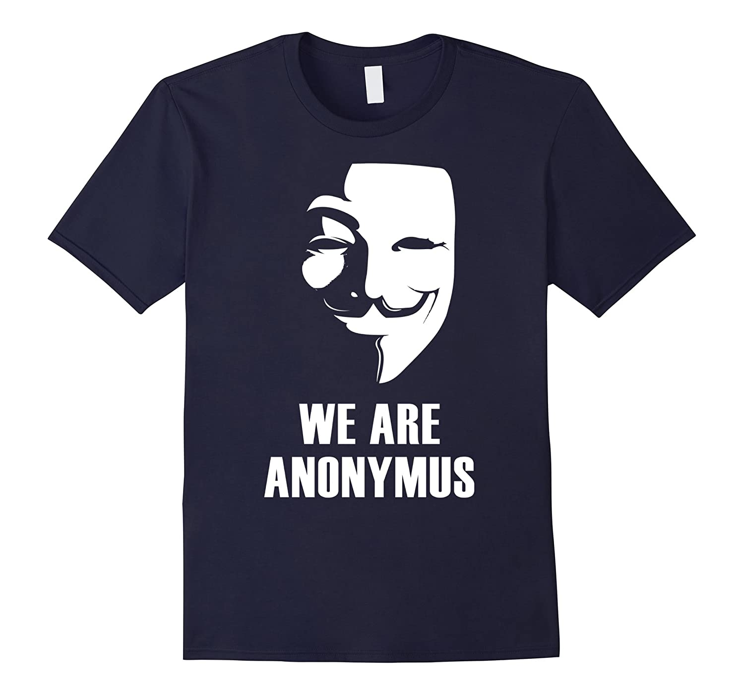 anonymus fase mask demo anti humor satiric T-Shirt-CD