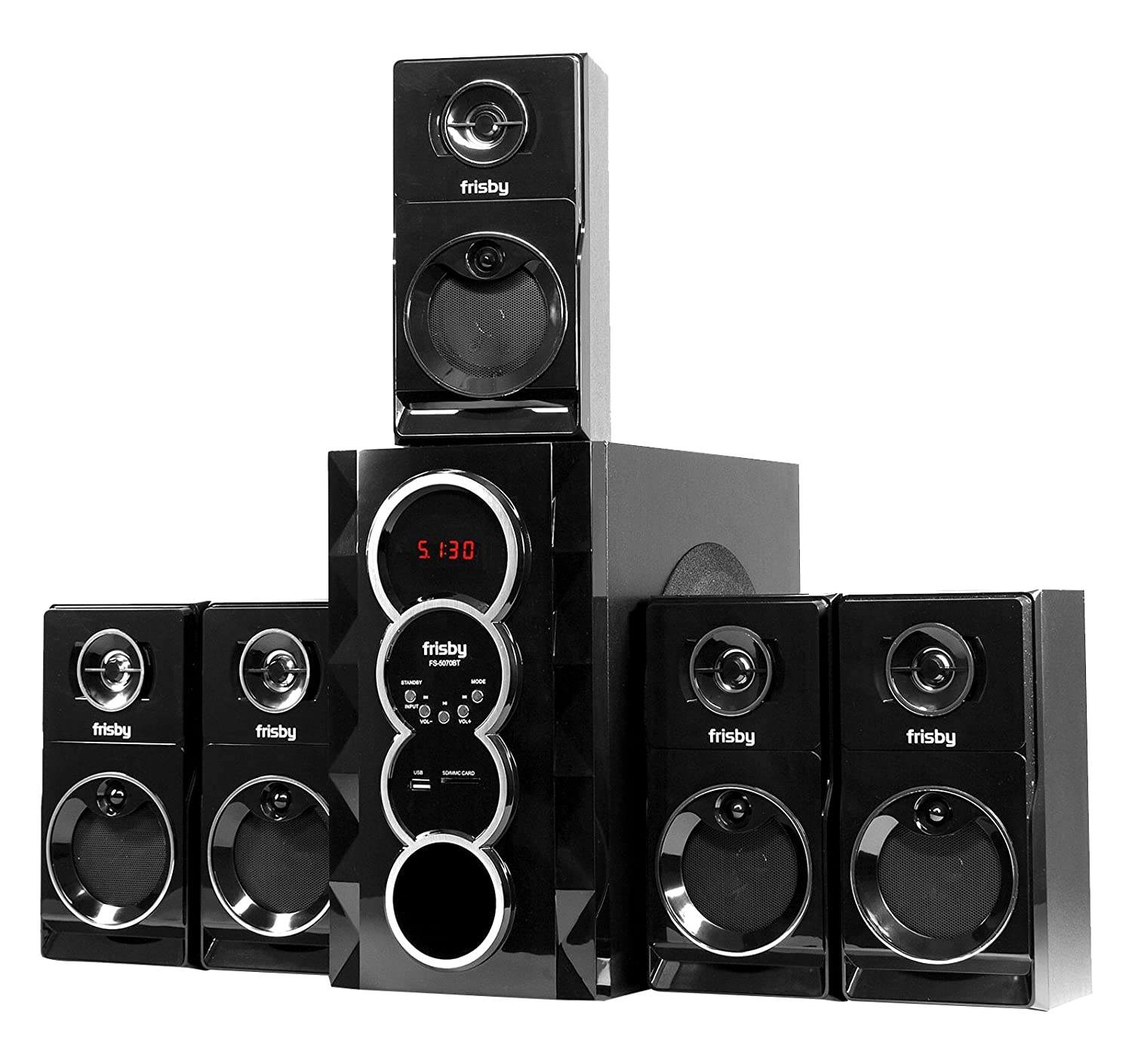 Frisby Fs-5070Bt 5.1 Surround Sound Home Theater Speakers System With Bluetoo