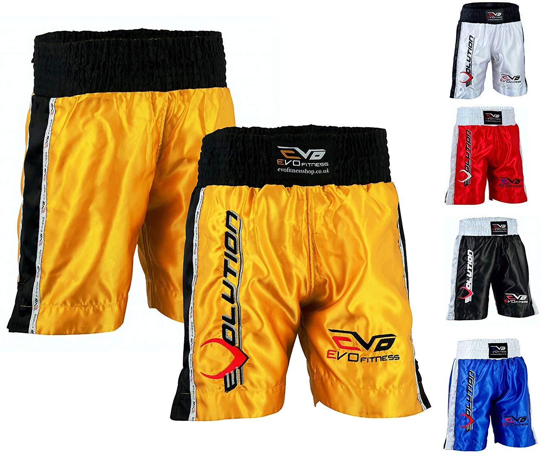 EVO Muay Thai Fight Shorts MMA Kick Boxing Grappling Martial Arts Gear UFC