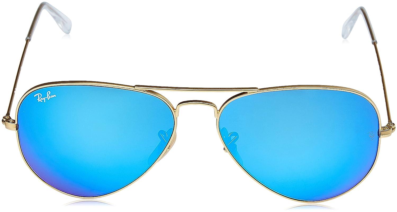 Ray-Ban RB3025 Aviator Flash Lenses - Gafas de Sol, Unisex, Adulto ...
