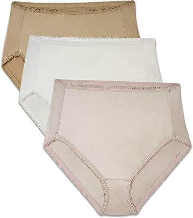 Brilliance By Vanity Fair Women S 3 Pack Undershapers Light Control Hi Cut Panty 48301 At Amazon Women S Clothing Store