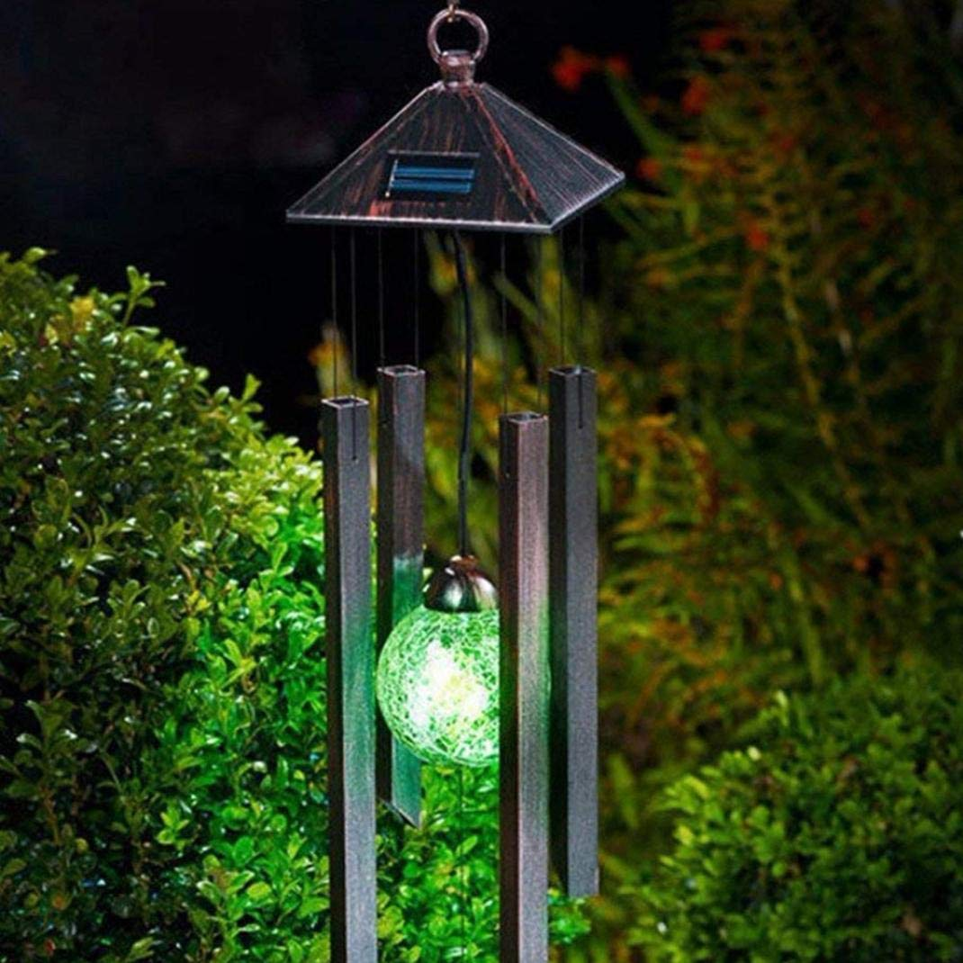 Ikevan Solar Wind Chimes Light Changing LED Wind Chime Garden Decoration by Ikevan_ String Lights (Image #3)