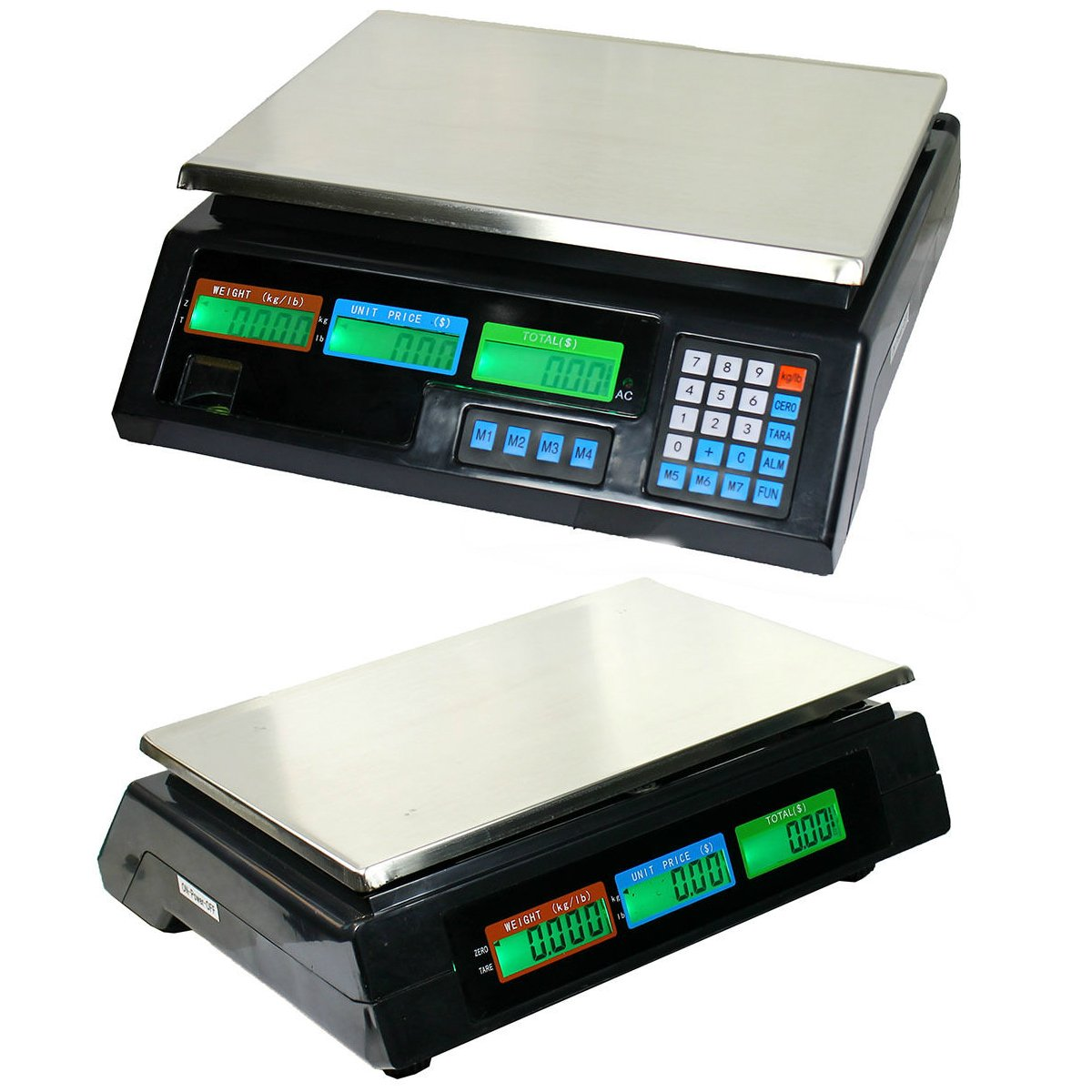 88lbs/40kg Digital Deli Scale | Food Meat Price Computing Digital Weight Scale New