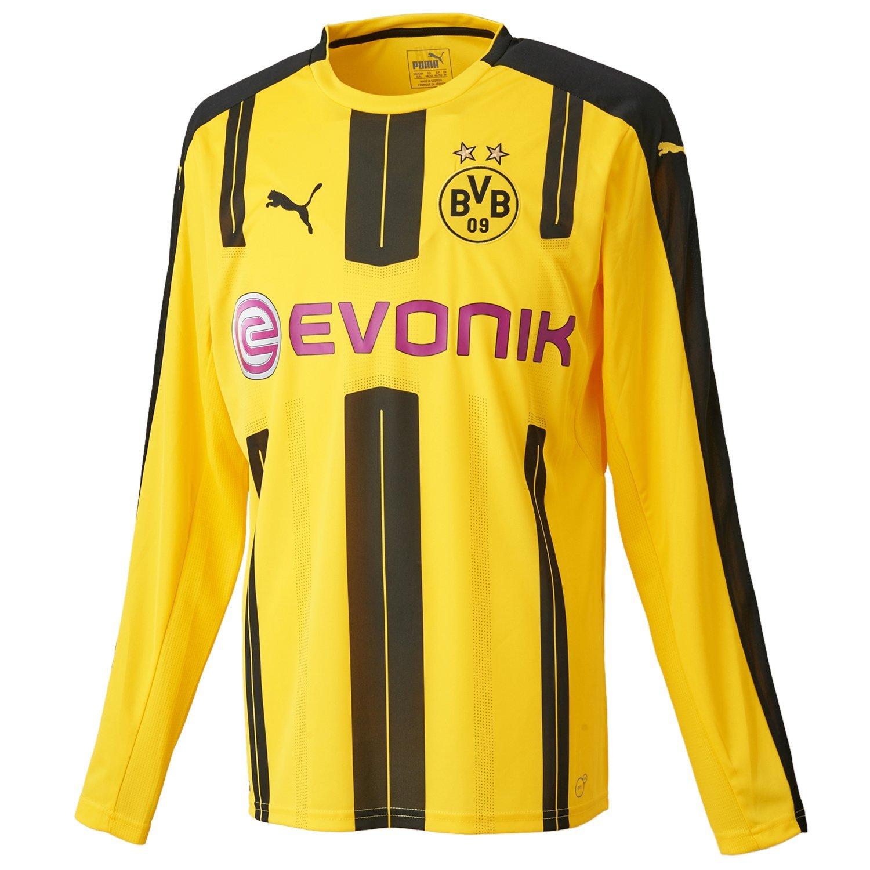 Puma Herren Trikot BVB Long Sleeve Home Replica Shirt with Sponsor Logo