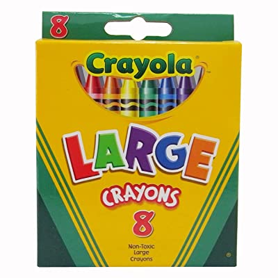 Crayola Large Crayons Tuck Box - 8 Count - 2 Packs : Childrens Crayons : Office Products