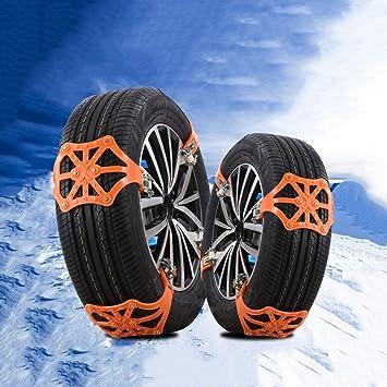 YXMxxm Juego de Cadenas de Nieve para neumáticos de 8 Piezas, Cadena de Nieve Antideslizante para Llantas ensanchadas Universal Cadena de Llantas ...