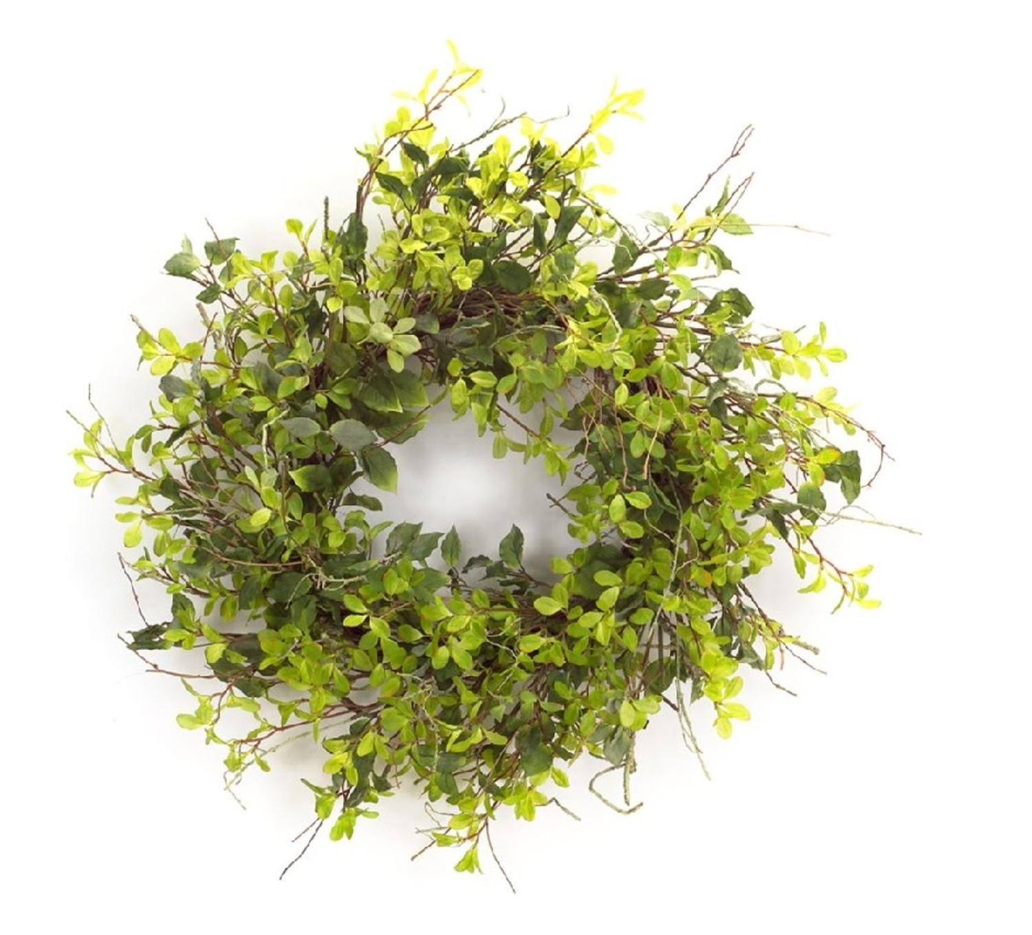 Melrose Pack of 2 Oversized Artificial Mixed Green Foliage and Twig Wreath 30'' - Unlit