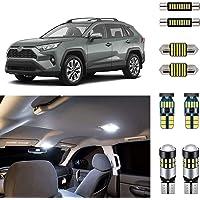 AUTOGINE Super Bright 6000K White LED Interior Light Bulbs Kit Package for 2016 2017 2018 2019 Toyota RAV4 + Install