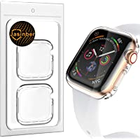 Jasinber 2-Pack Protector de visualización Completa Funda Carcasa Case Transparente Compatible con Apple Watch Series 4 (40mm)