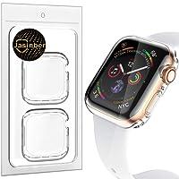 Jasinber 2-Pack Protector de visualización Completa Funda Carcasa Case Transparente Compatible con Apple Watch Series 4 (44mm)