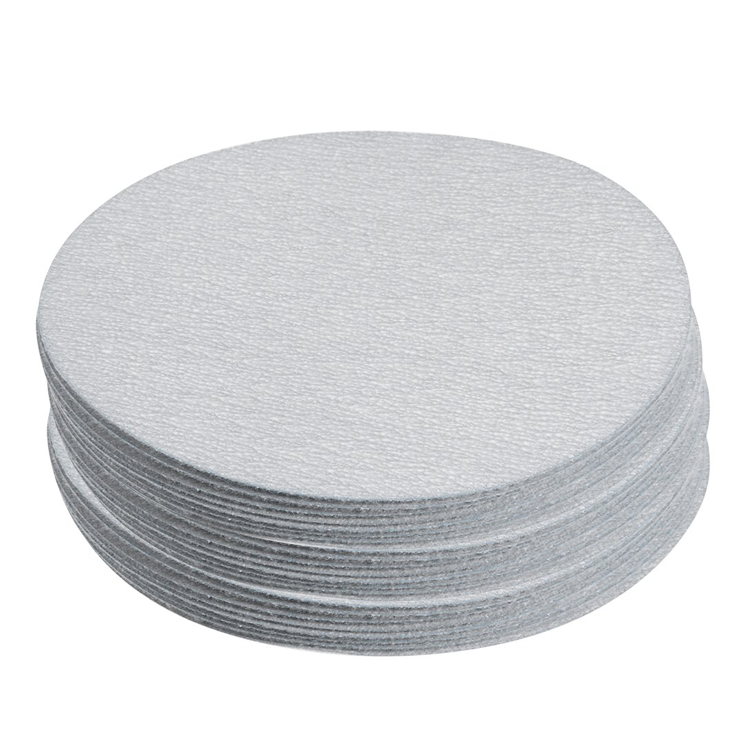 uxcell 30 Pcs 4-Inch Aluminum Oxide White Dry Hook and Loop Sanding Discs Flocking Sandpaper 600 Grit