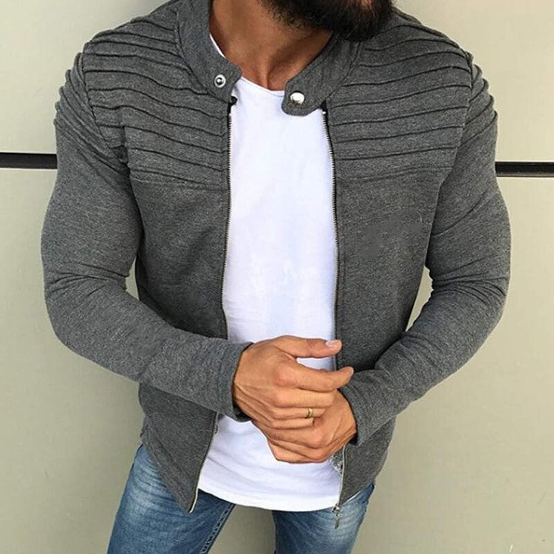Casual Men EtMale Slim Sweatshirts Long Sleeve Outerwear Tops Man Raglan Zipper Hoodies Autumn Spring