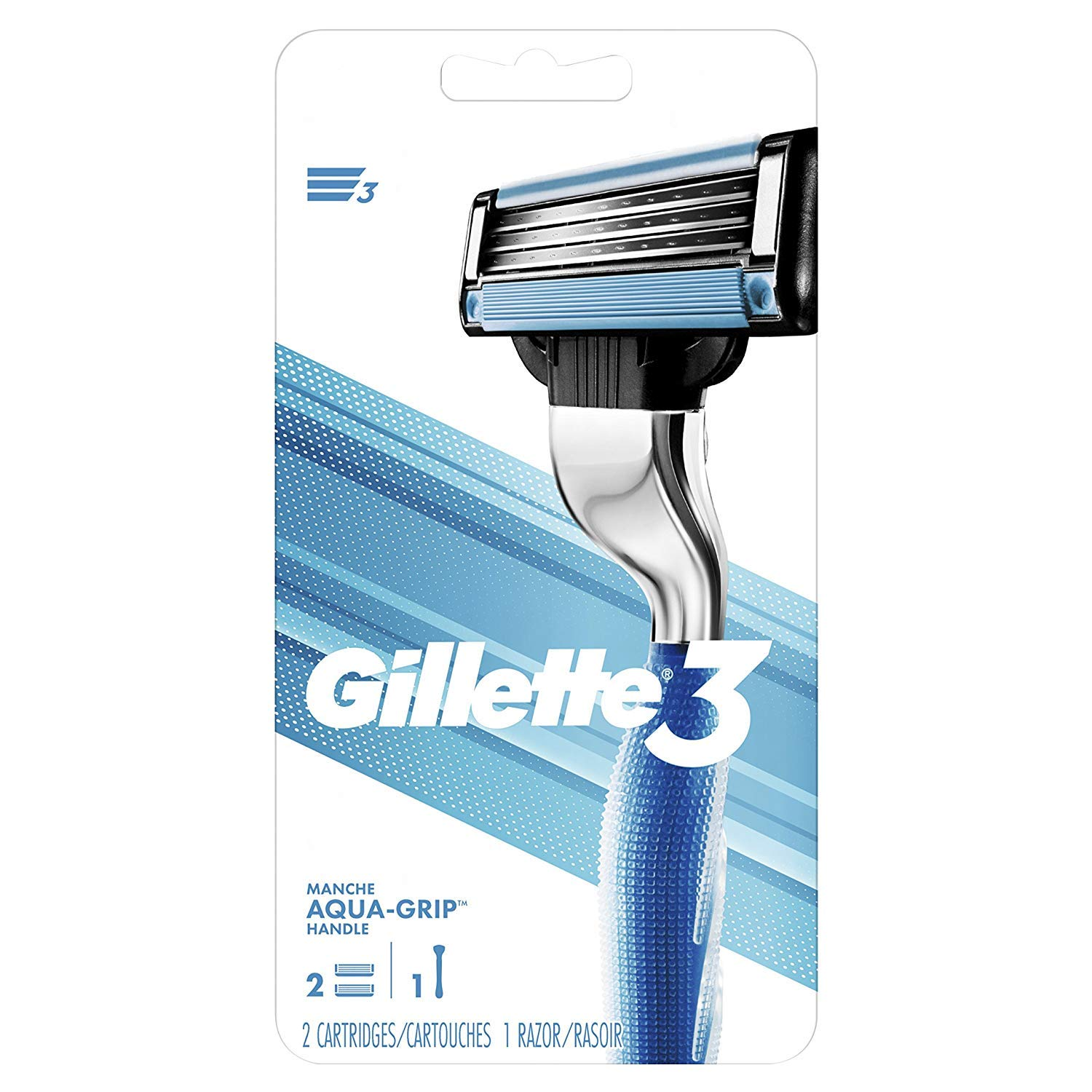 Gillette3 Men's Razor Handle by Gillette + 2 Cartridges