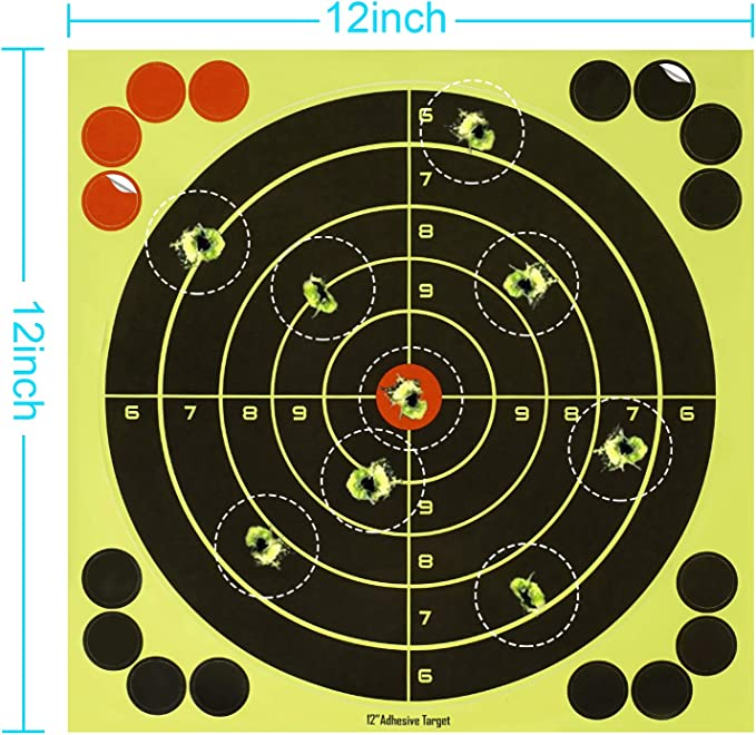 50 Sheet Shooting Paper Target 20x20cm Splatter Self-Adhesive Stickers with