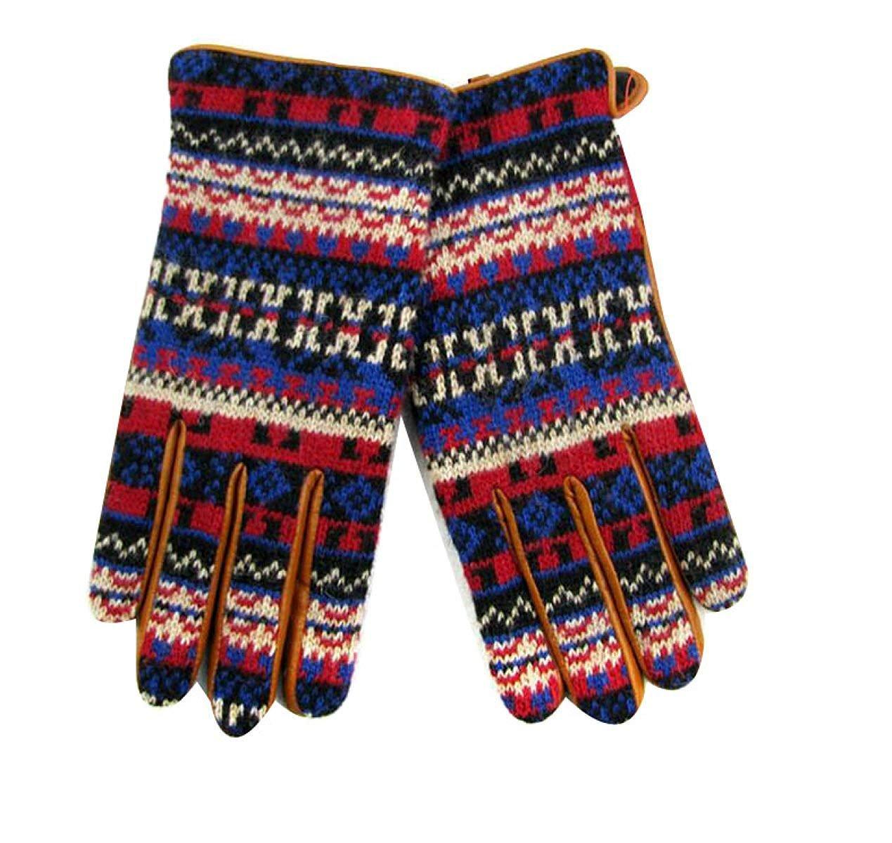 CWJ Jacquard Knit Gloves Men Fashion