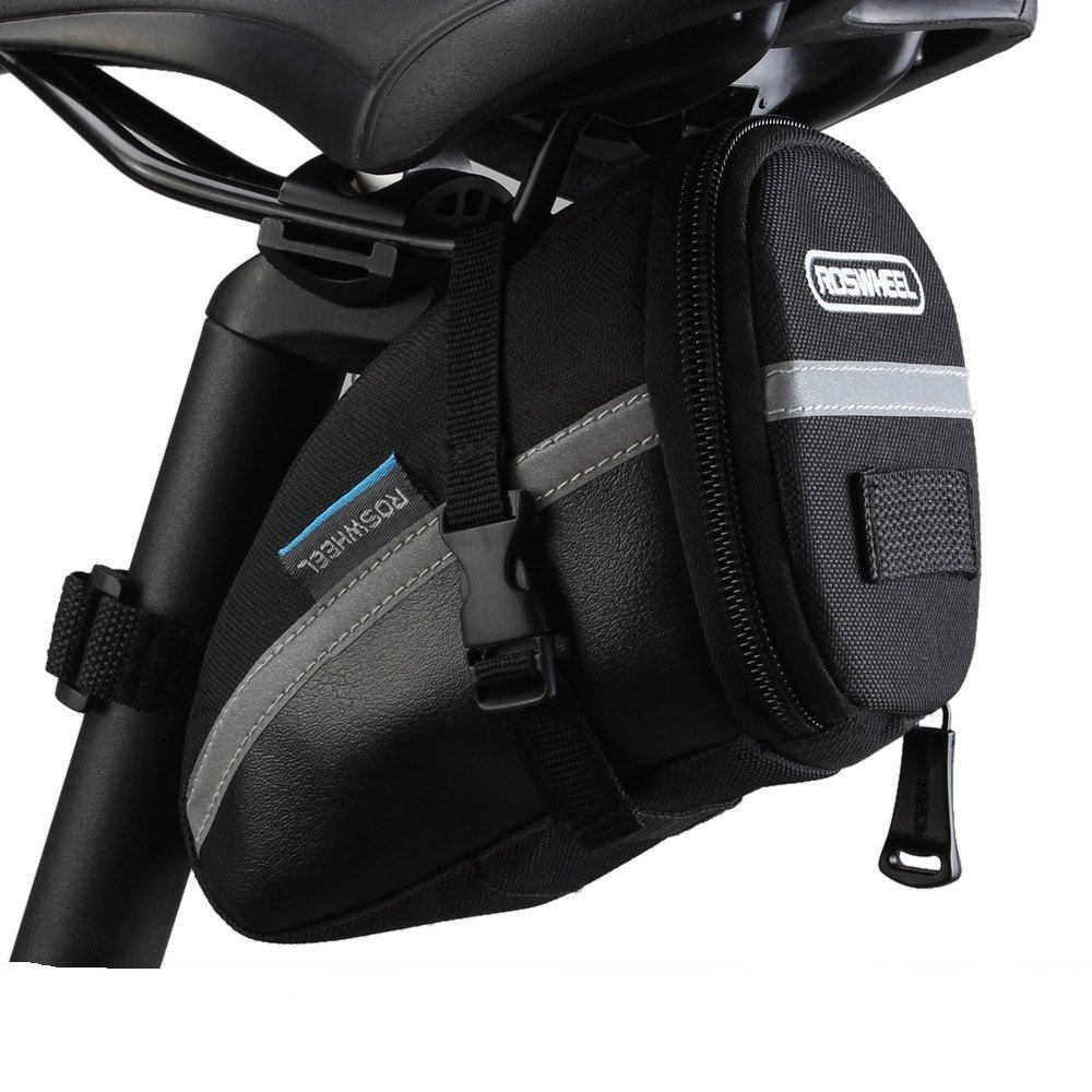Life-Plus Bicicleta Bolsas Bolsa de Sillín para Bicicleta PVC y Poliéster Alforjas Ciclismo para