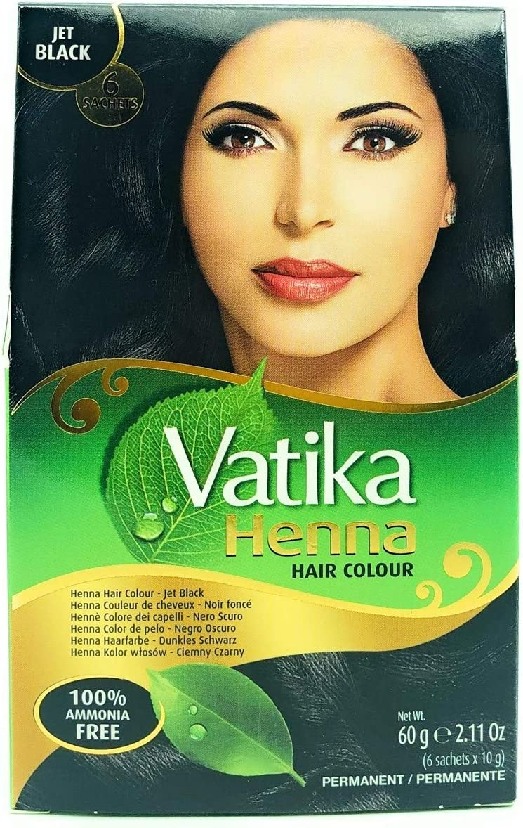Dabur Vatika Henna - Tinte para el cabello (60 g), color negro