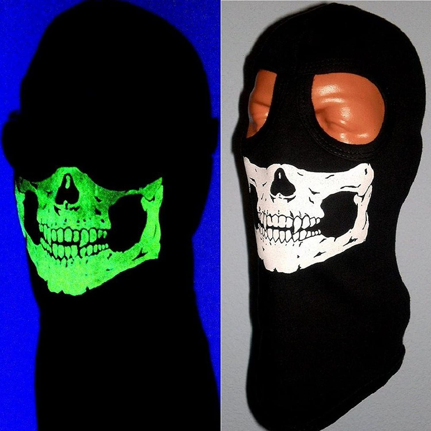 Amazon.com: American Made My Skull Store Adult Glow in the Dark 2 ...