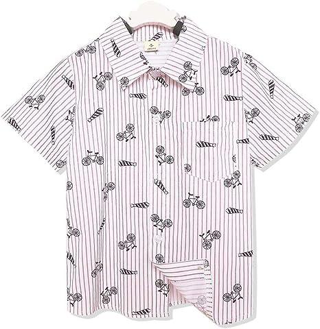 Camisa de manga corta de algodón para niños con diseño de rayas para niños de 2 a 8 años Talla:6-7Y: Amazon.es: Bebé