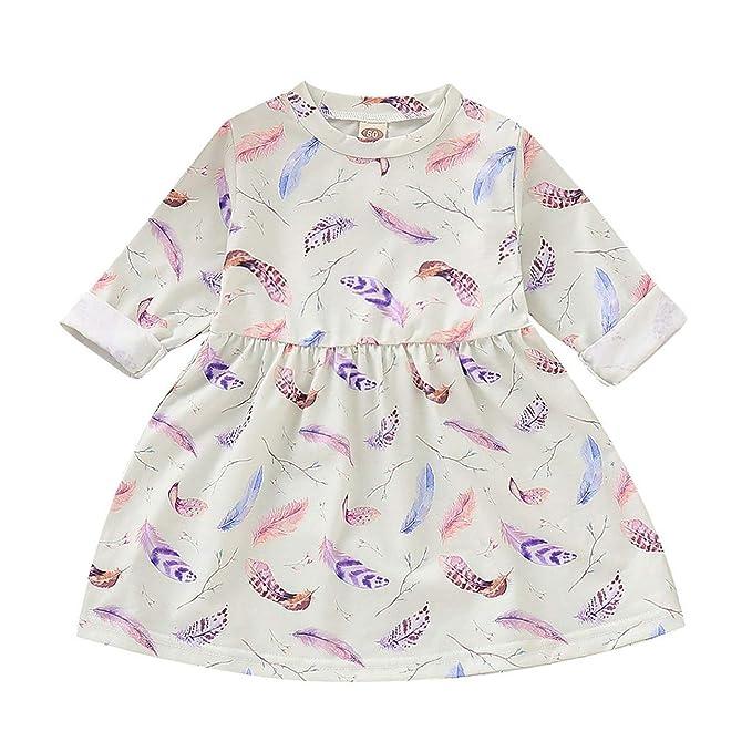 HCFKJ Ropa Bebe NiñA Invierno NiñO Manga Larga Camisetas Beb Conjuntos Moda Bebé NiñAs Princesa ImpresióN Floral Vestidos Ropa De AlgodóN Trajes: Amazon.es: ...
