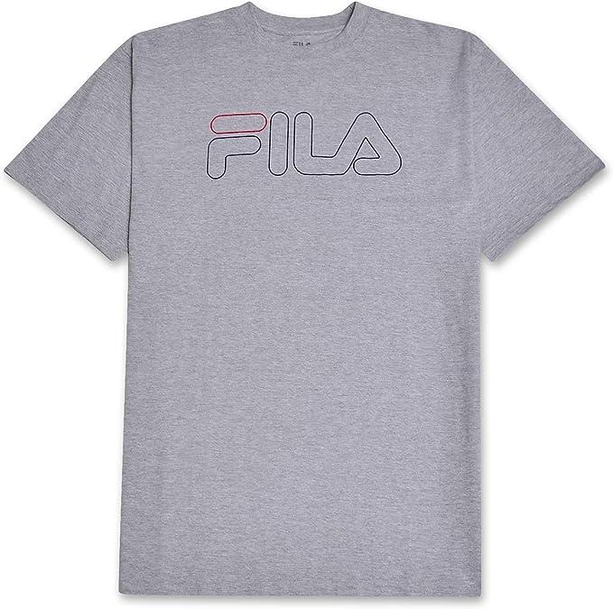 Fila Camiseta de Manga Corta Grande y Alta con Logo para Hombre: Amazon.es: Ropa y accesorios