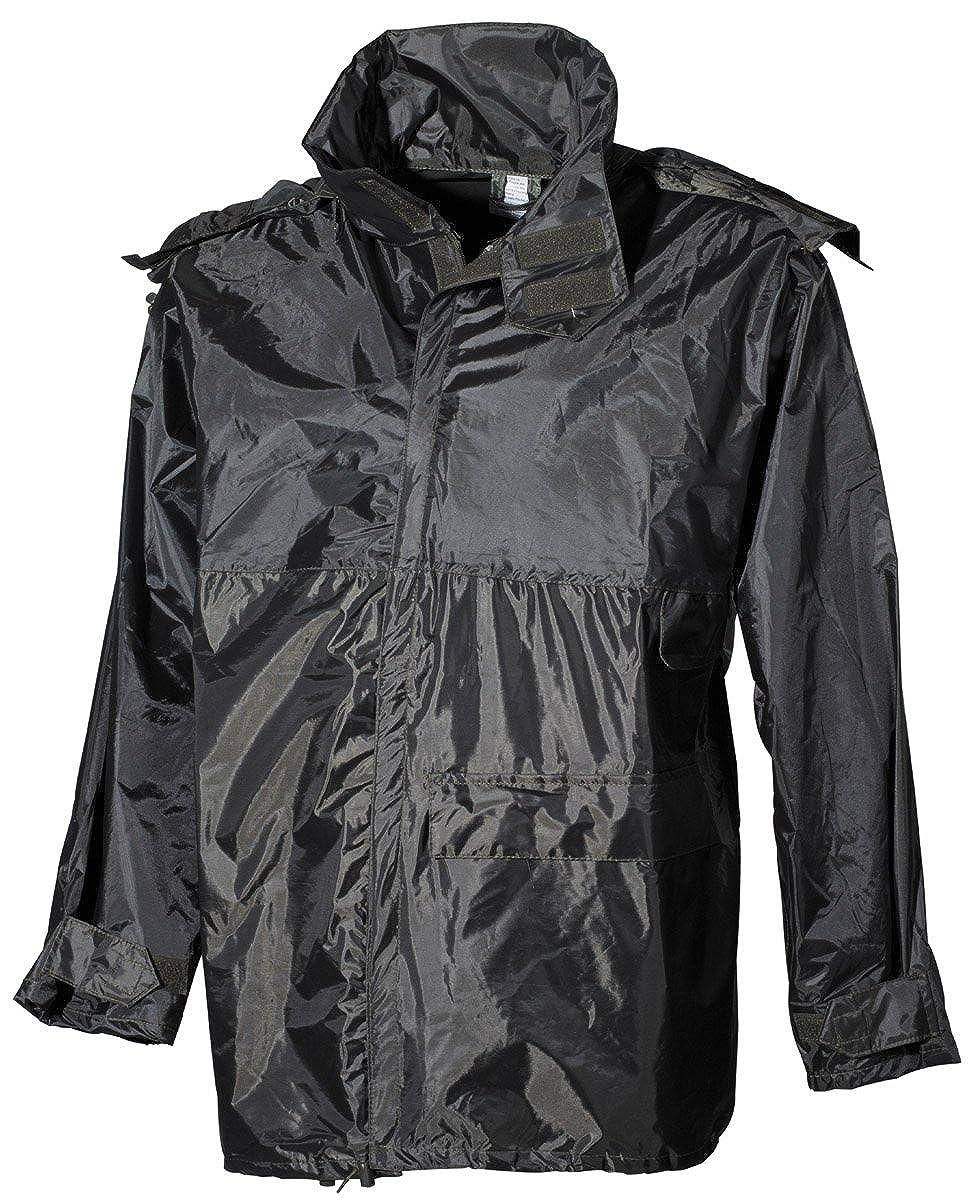 Polyester mit PVC MFH Regenjacke oliv