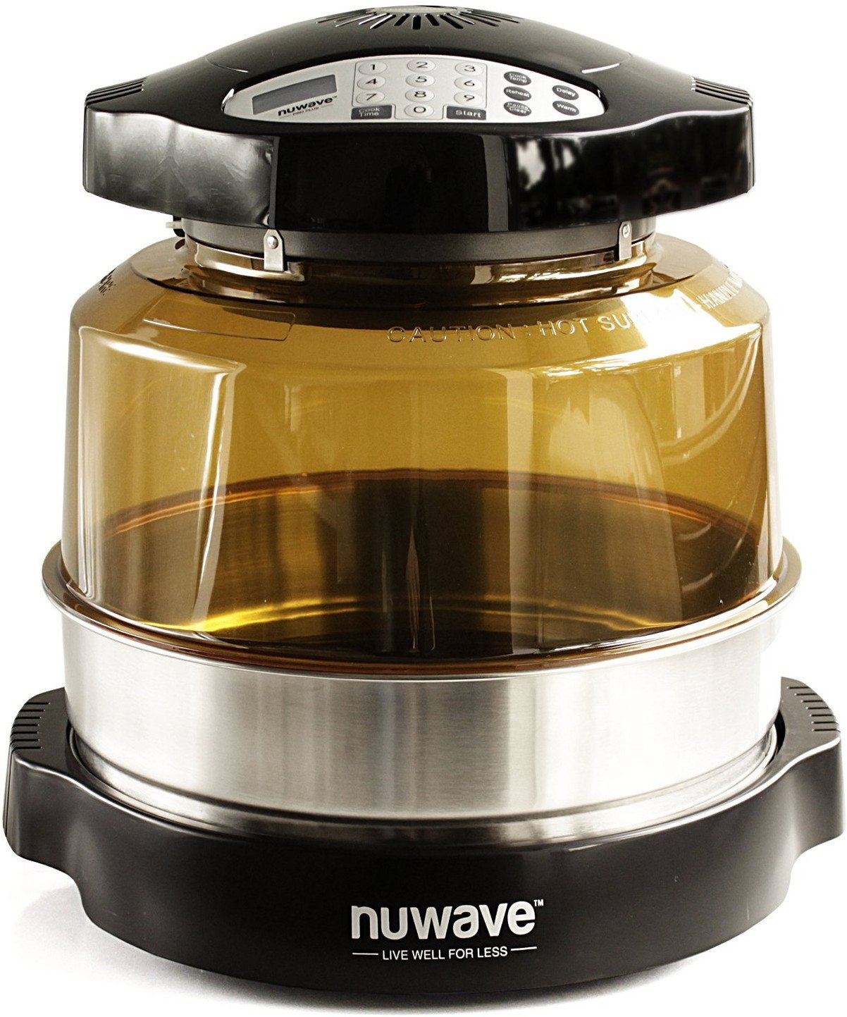 NuWave Pro Plus Oven Black with 3 Extender Ring Kit