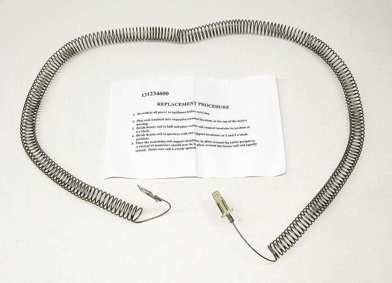 (KS) 131234600 131475320 131475300 AP4501537 PS2378363 Dryer Heating Element Restring Exact Replacement for Frigidaire Crosley Gibson Kelvinator
