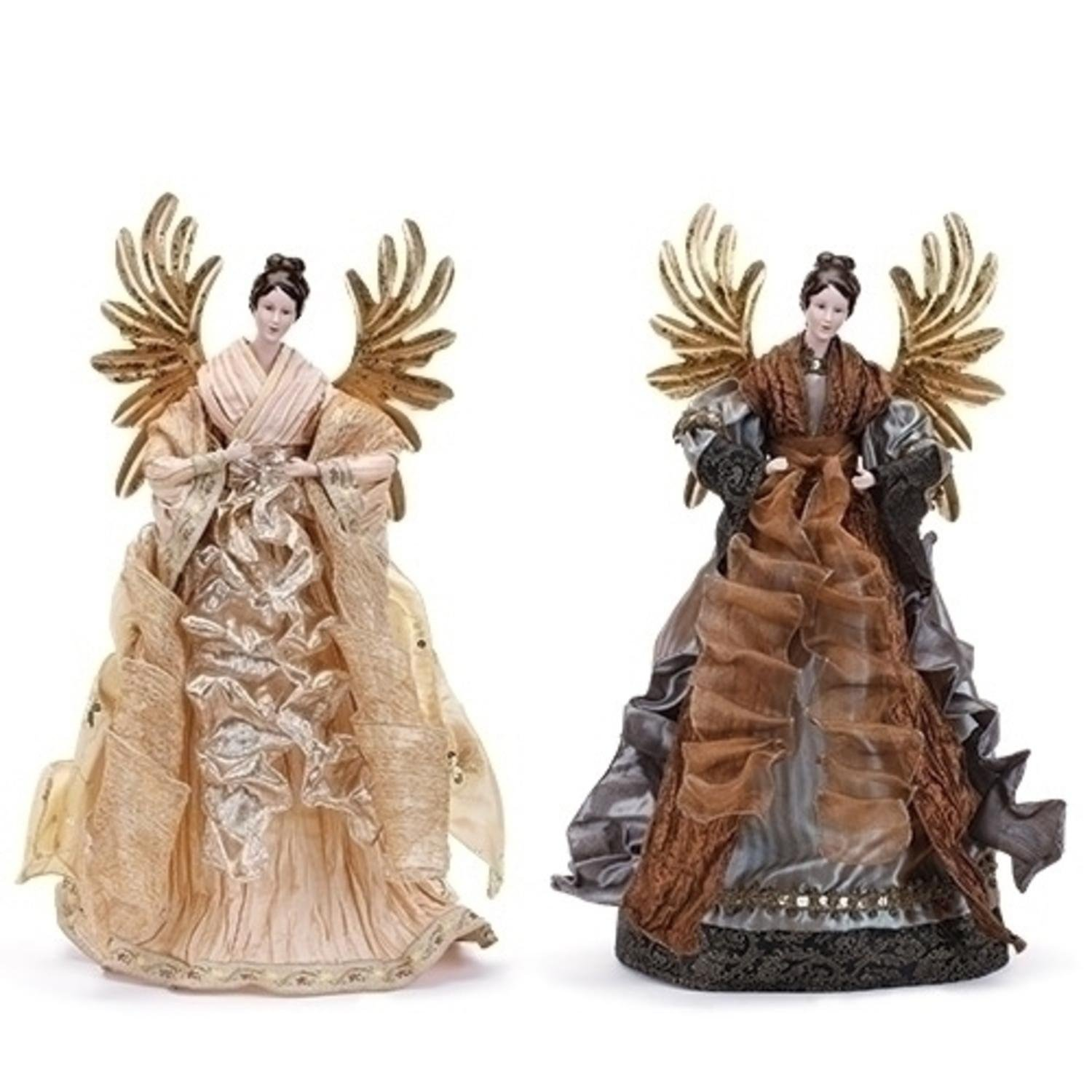 20'' Ivory Angel with Gold Wings Tree Topper