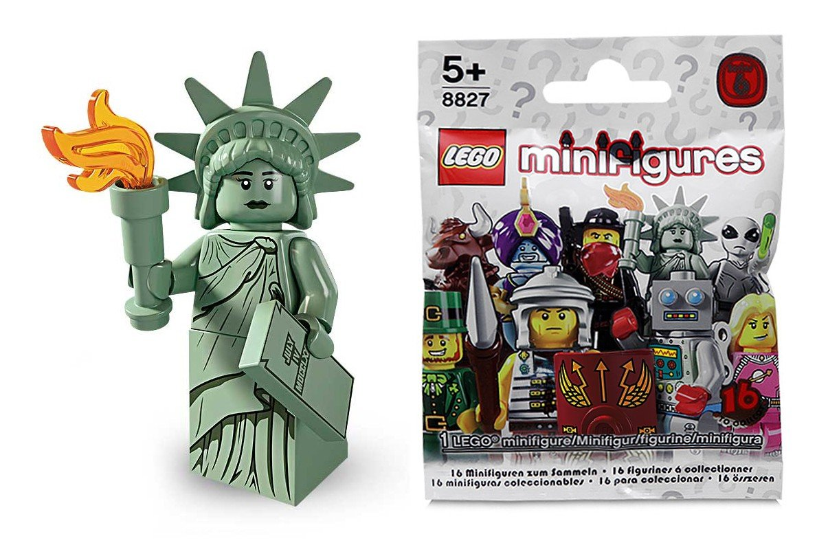 LEGO Figurines à Collectionner: Lady Liberty Mini-Figurine (Série 6)