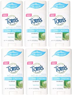 product image for Tom's of Maine Natural Long Lasting Deodorant Multi Pack, Tea Tree, Pack Of 6)