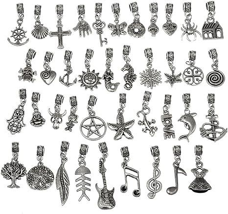 Abalorios y colgantes para fabricaci/ón de joyas Rubyca