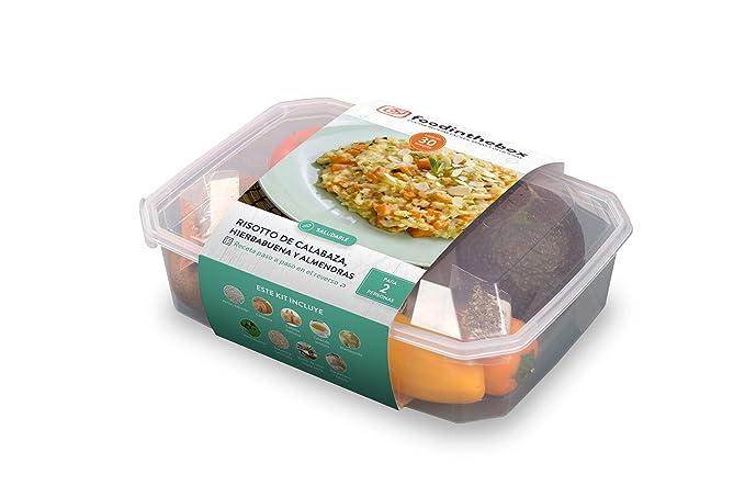 Kit para cocinar - Risotto de calabaza, almendras y hierbabuena de Foodinthebox (2 raciones