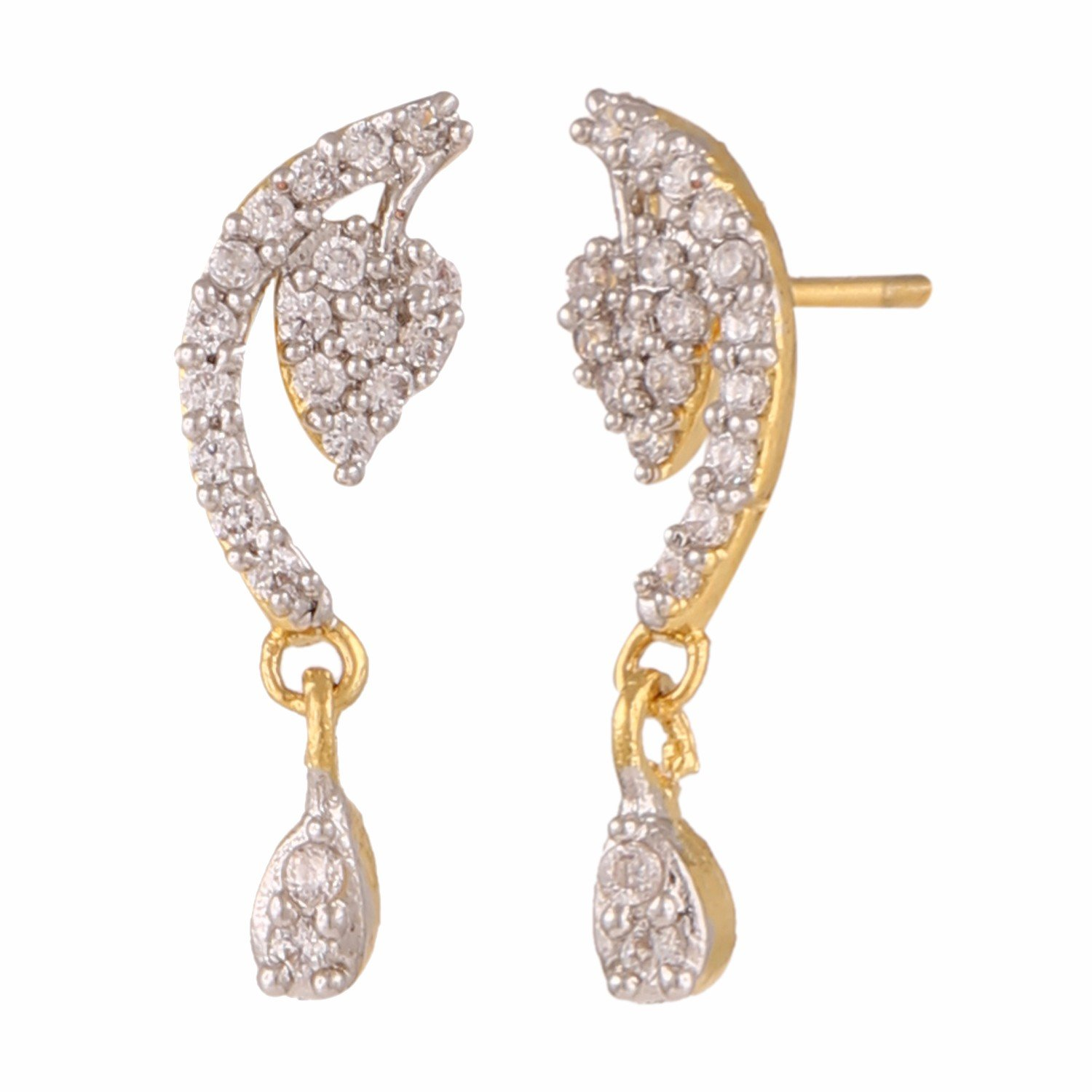 the classic style Efulgenz Stud Earrings 18 K Gold Plated ...