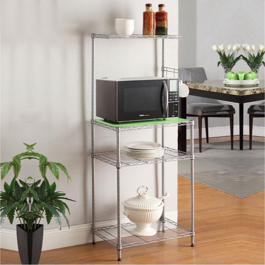 Hyun times Kitchen Floor Microwave Shelf Multilayer Microwave Shelves Shelf Shelf Storage Racks Oven Racks by Hyun times Bowl shelf