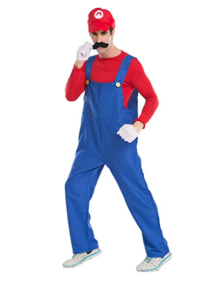 Super Mario Luigi Kostüm Weihnachts Cosplay Damen Herren Fasching Party Set