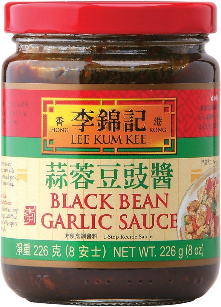 Lee Kum Kee Black Bean Garlic Sauce Glass Bottle,8 Ounce (Pack of 6)