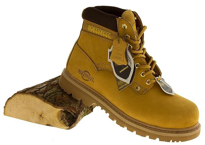 Footwear Studio - Calzado de protección de forro: fibra sintética para hombre, color, talla 46: Amazon.es: Zapatos y complementos