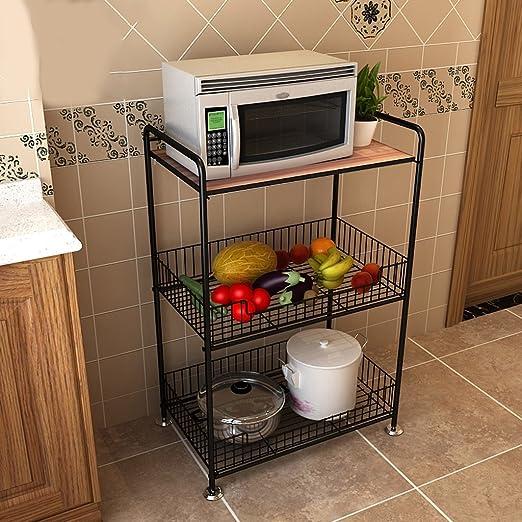 Suelo de la cocina Microondas Estante de almacenamiento de 3 ...