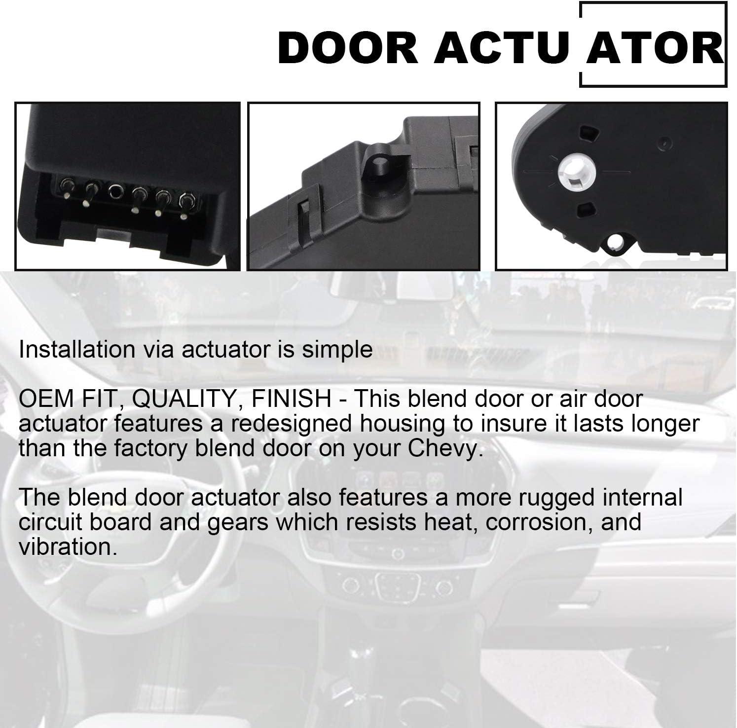 Suburban HVAC Blend Control Actuator Heater Air Door Actuator Motor 89018365 604-106 52402588 16163982 52402598 52402612 15-72971 for Chevrolet Silverado Tahoe; GMC Sierra Yukon; Cadillac Escalad